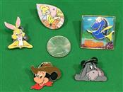 Lot of 5 Disney Parks Trading Pins, 3D Dory, Mickey, Rabbit, Eeyore, Tinker Bell